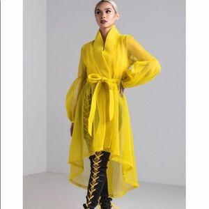 AKIRA Expence me trench mesh jacket,yellow,S!!NEW